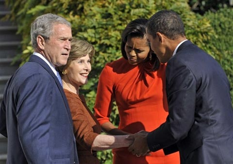 Bush's Family & Obama's Family in White House